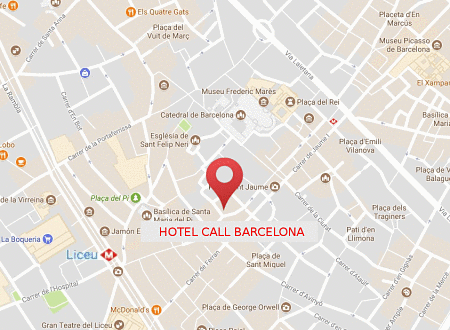 Hotel Condal - Location Map